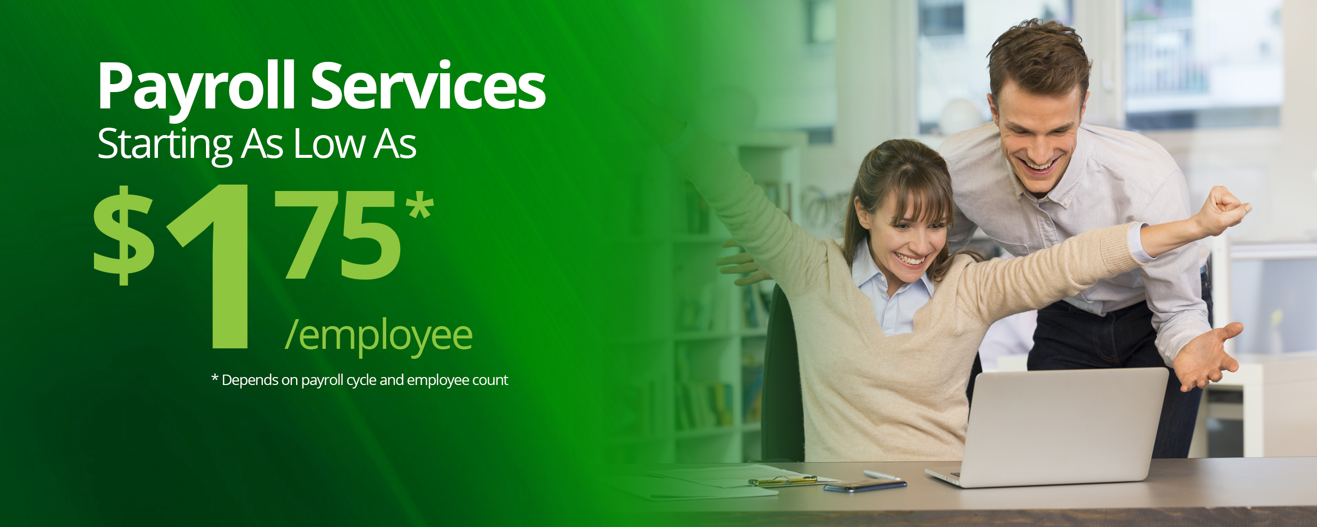 Payroll Services offered at low prices to help your business manage payroll with automated time and attendance